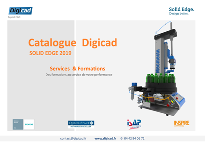 Catalogue de Formation Solid Edge 2019