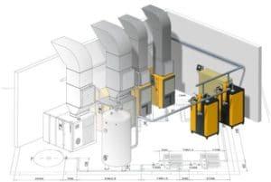 Conception CAO 3D de gaines de section rectangulaires