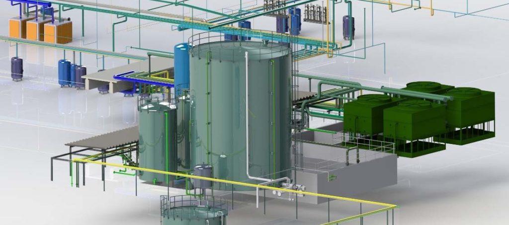 Plant Design, Conception CAO 3D en Tuyauterie Industrielle