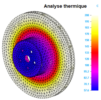 Solid Edge Simulation, analyse thermique